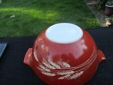 Vintage Pyrex Autumn Harvest Rust Orange 1 ½ qt. #442 Cinderella Nesting Bowl