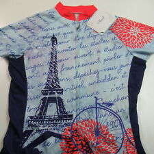 Nwt Primal Cycling Jersey Full Zip Paris France Eiffel Tower Womens Medium