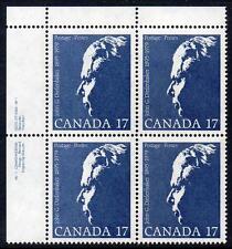 Canada Gomma integra, non linguellato 1980 John G. diefenbaker COMMEMORAZIONE, blocco di 4