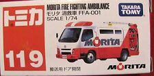 Takara Tomy #119 Morita Fire Fighting Ambulance   1:74 scale   NRFB