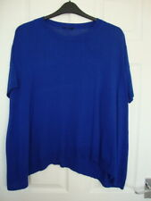 Roman Womens Royal Blue Oversize Knitted Top Size M
