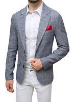 Giacca uomo in lino Sartoriale nero estiva casual elegante Man's Blazer
