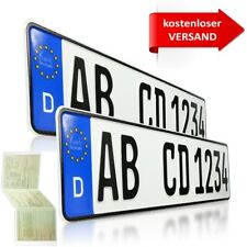 2 Stück EU KFZ Nummernschilder  Kennzeichen  Autoschilder  DHL VERSAND