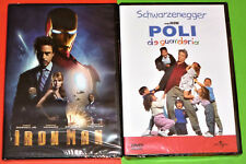 IRON MAN + POLI DE GUARDERIA / KINDERGARTEN COP -DVD R2- English Español -Precin