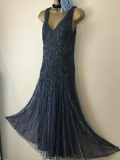 Pisarro Nights Maxi Beaded Embellished Evening Gatsby Flapper Party Dress 8