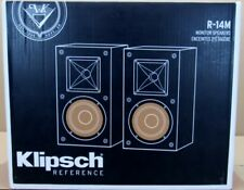 NEW PAIR KLIPSCH R-14M REFERENCE SERIES BOOKSHELF SPEAKERS stereo copper hifi pc