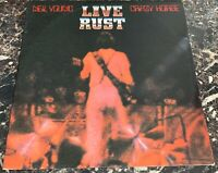 Neil Young & Crazy Horse Live Rust 2x LP Vinyl RECORD VG+ TESTED