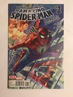 MARVEL COMICS AMAZING SPIDER-MAN 1 2015 OVERSIZED ALEX ROSS 1ST PRINT DAN SLOTT