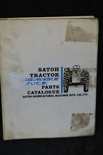 SATOH Beaver III Buck Technical Service PARTS Catalog Manual S373 S470 Tractor
