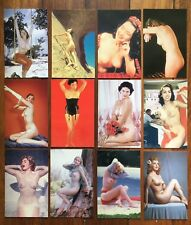 41 X Classic Pin-ups Post Cards - Naked Topless Nude Girls Postcard Pinup Girl