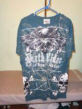 Bulzeye Men's Luxury Graphic Sequin Bling Tee Size XL Scoop Neck T-Shirt #5