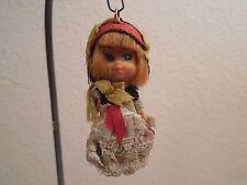 "Rare Vintage Small Blond Hair Rubber Doll Ornament ~ Hong Kong ~ 3"" Tall"