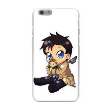 Supernatural Dean Castiel Cartoon Dvd Hard Cover Case For iPhone Galaxy Huawei