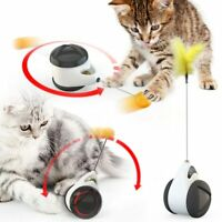Tumbler Swing Toys for Cats Interactive Balance Car Cat Chasing Toy With Catnip