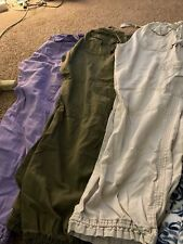 Lot Of 3 Koi Scrub Pants Size Med Lilac Olive Tan