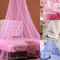 Pink/White/Blue Round Lace Curtain Dome Bed Canopy Netting Princess Mosquito Net