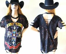 Guns N Roses Deep v bleached distressed shirts dress or top S-XL Appetite for