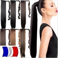 Rajout Queue de Cheval Postiche Extension de Cheveux Lisse  Wrap Around Ponytail