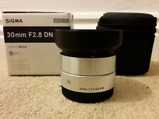 Sigma DN 30mm F/2.8 Lens Art - SIlver Sony E Mount