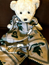 Michigan State Spartans Fleece Baby Blanket/Spartans Baby Blanket/Spartans Baby