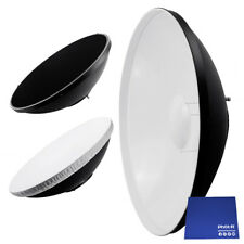 "Phot-R 16"" 56cm Beauty Dish Diffuser Honeycomb Grid Bowens Mount Chamois Cloth"