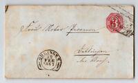 Wurttenburg 3k Stationery / Ohringen 1867 CDS - Z13268