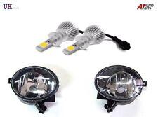 VW Golf MK6 MKVI Front Fog LED Light Lamp Spot Pair N/S O/S 2009 – 12 + HB4 9006