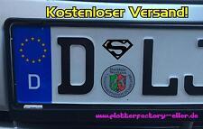2x Superman Nummernschild Aufkleber Sticker fun Aufkleber Auto Au Plakette Tüv