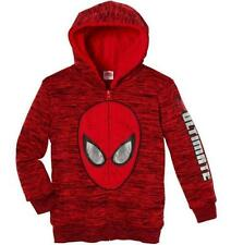 NEW Marvel Boy's Character Sherpa Lined Full Zip Hoodie SweatShirt Red 2T