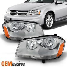 Fit 2008-2014 Dodge Avenger Replacement Headlights Headlamps L+R 2009 2010 (Fits: Dodge)