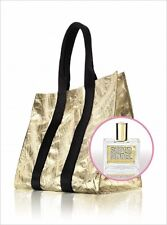 NWT Victoria's Secret Supermodel Travel Weekender Gold Tote Bag Mini Perfume EDP