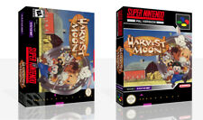 Harvest Moon SNES Replacement Game Case Box + Cover Art Work (No Game)