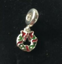 Pandora Dangle Holiday Wreath With Red & Green Enamel Brand New