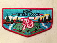 TUTELO OA LODGE 161 RED BORDER SERVICE FLAP SCOUT PATCH MINT RARE NOAC DELEGATE