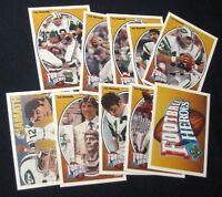 1991 UPPER DECK JOE NAMATH FOOTBALL HEROES SET w NNO HEADER (10 CARDS)(JETS)UD