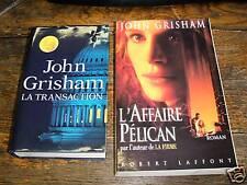 john gisham / l'affaire pélican / la transaction /2 vol