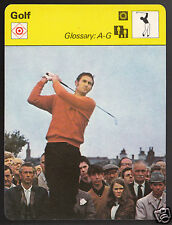 BOB CHARLES Golf PGA Golfer Photo Glossary A-G 1977 SPORTSCASTER CARD 08-14A