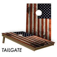 Slick Woody's American Flag 2' by 3' High Quality Lightweight Cornhole Board Set