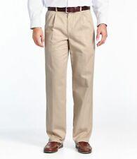 LL Bean Mens Quality Trousers Pants Chinos RRP $49.95 comfort waist BNWT 40 34