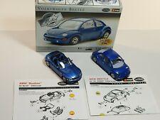 Testors Volkswagen Beetle Kit 420002 & BMW Roadster Kit 127 1:43 Scale