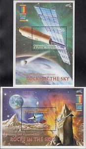 Grenada Grenadines MNH Sc 2207-08 S/S Space Exploration Value $ 9.00 US $$