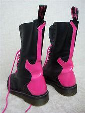 DR. MARTENS -ROCKER -Women's Boots Black Pink -AIR Wair Bouncing Soles -Size 9 M