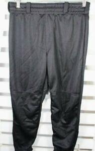 Rawlings Youth Size Large Black Classic Fit Elastic Waist Baseball Pant