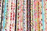 """10 PCs 2.5""""x44"""" Jelly Roll Strips Cotton Fabric Flower Mixed Quilt Patchwork R2"""
