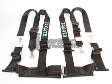 "Takata Drift II Bolt-On Seat Belt Safety Harness Black 2"" Shoulder/Lap 4-Point"