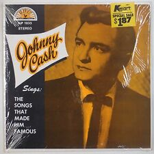 JOHNNY CASH: Sings Songs Made Him Famous SHRINK USA SUN Early Country NM- LP