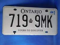 ONTARIO CANADA COMMERCIAL LICENSE PLATE DECALS FOR 1:24 SCALE TRUCKS