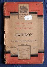 ORDNANCE SURVEY MAP SWINDON SHEET 157. FULLY REVISED 1949-56; PUBLISHED 1958.
