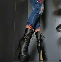 Original Intention Women's Winter Boots Round Toe Black Shoes Woman Plus Size