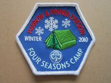 Four Seasons Camp 2010 Winter Girl Guides Cloth Patch Badge L5K C